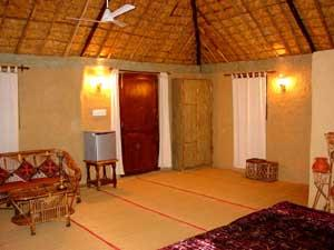 Ashokas Tiger Trail Resort Interior Of Mud Cottage